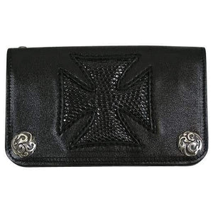 black iron cross wallet
