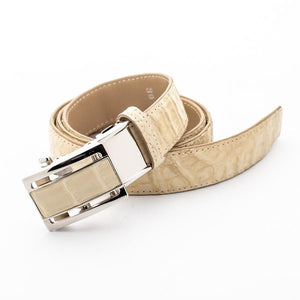 ivory white men's crocodile leather belt