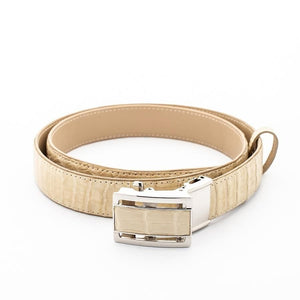 Ivory White Genuine Crocodile Belt
