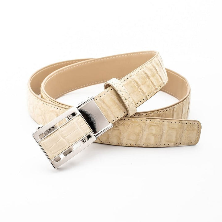 ivory white crocodile alligator belt