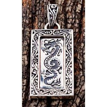 Japanese Dragon Silver Pendants