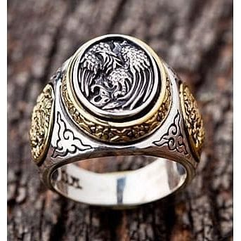 Japanese Phoenix Rings-Bikerringshop