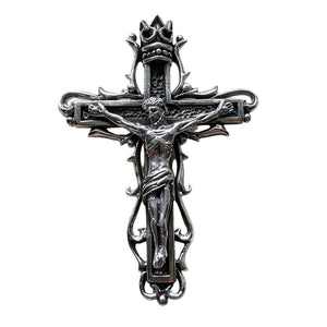 sterling silver Jesus cross gothic pendant