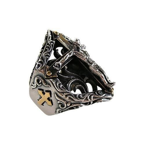 Jesus Crucifix Biker Rings-Bikerringshop