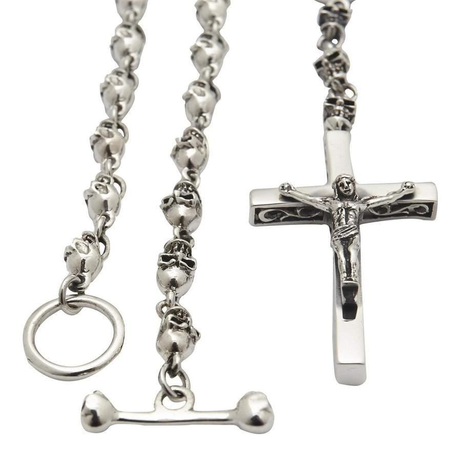 silver jesus men's necklace