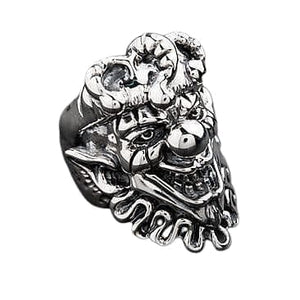 joker face clown ring