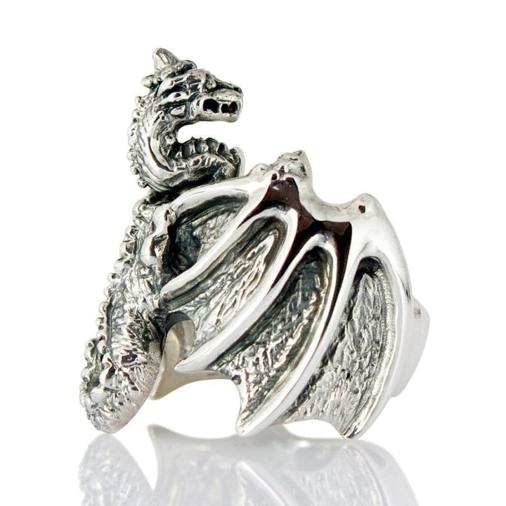 sølv dragon ring