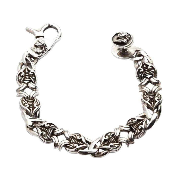 knight sterling silver men's bracelet