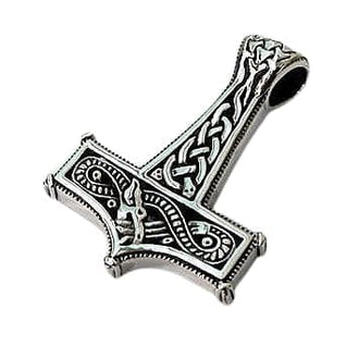 Sterling silver knot thors hammer pendant bikerringshop knot thors hammer pendant aloadofball Image collections