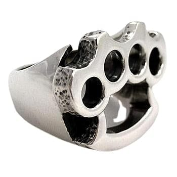 925 Silver Knuckle Duster Ring