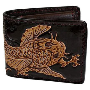 genuine leather koi wallet