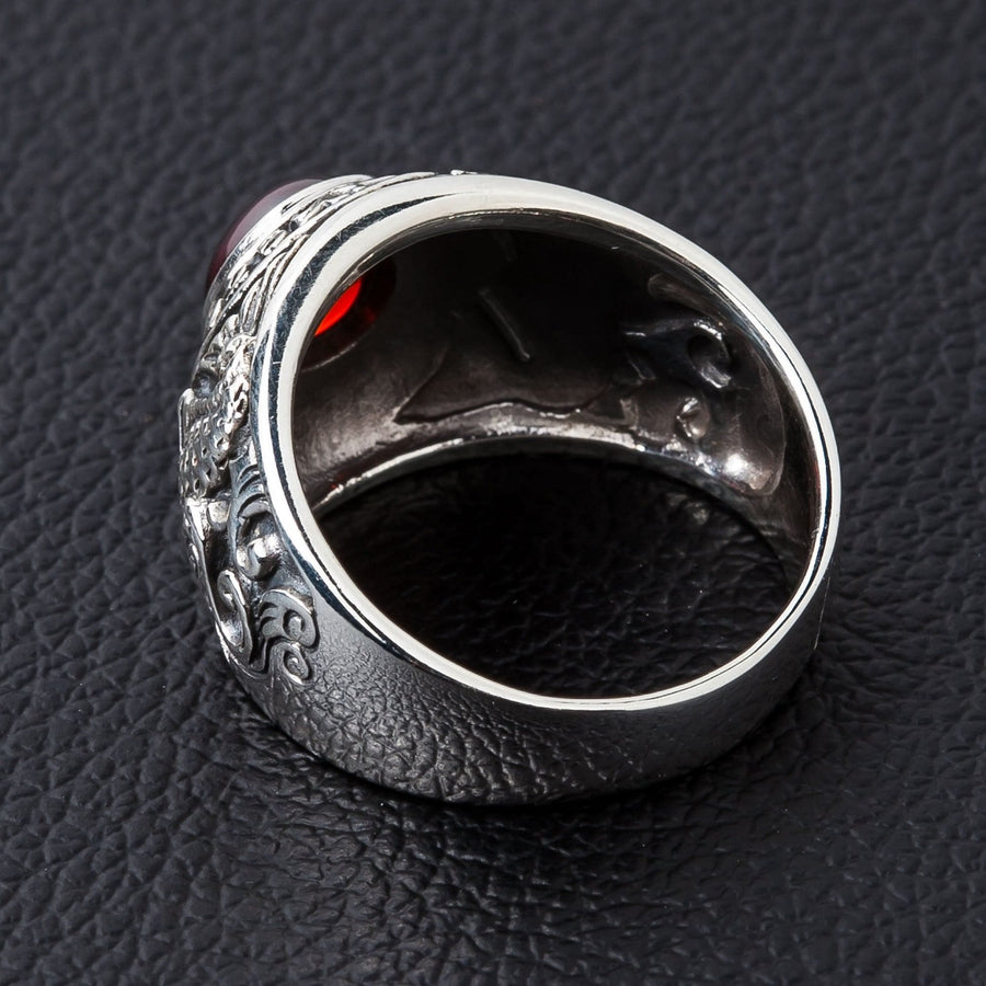 sterling silver koi ring