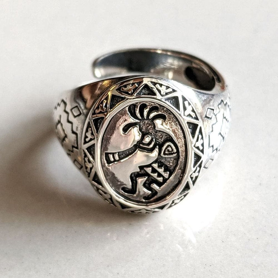 sterling silver kokopelli ring