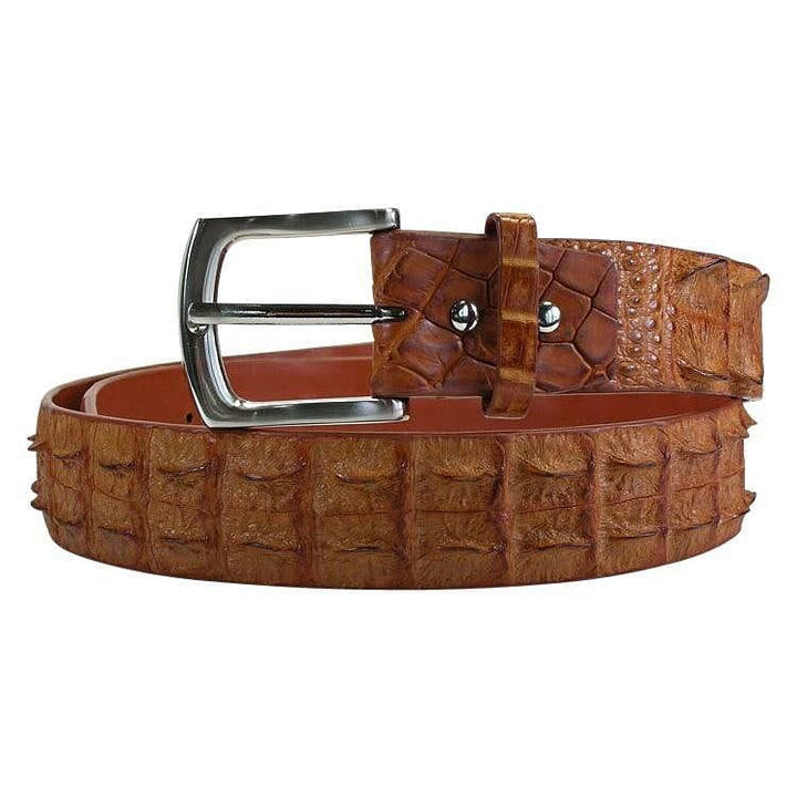 light brown crocodile belt