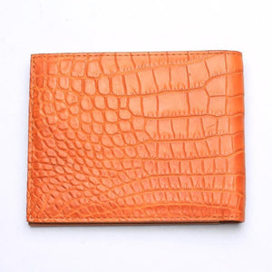 real crocodile stomach skin wallet