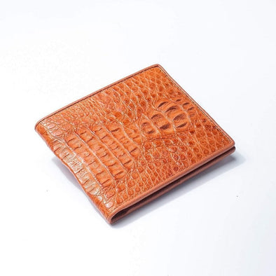Light Brown Hornback Crocodile Mens Wallet