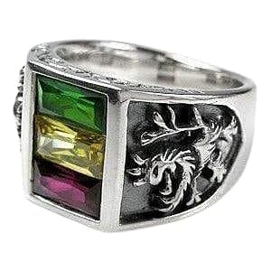 Rasta Lion of Judah Ring