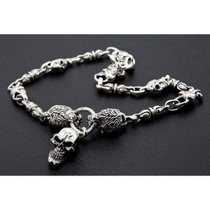 silver men's necklace