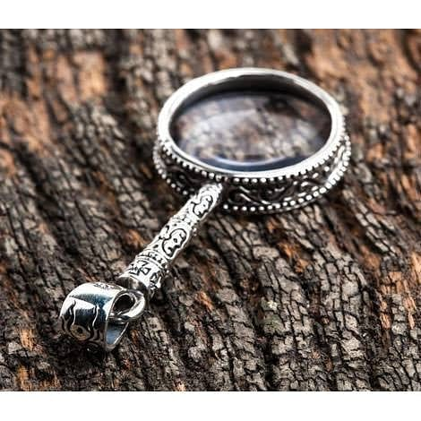 sterling silver Magnifying Glass pendant