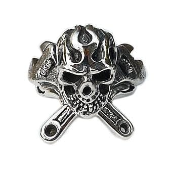 Mechanic Skull Wrench Ring