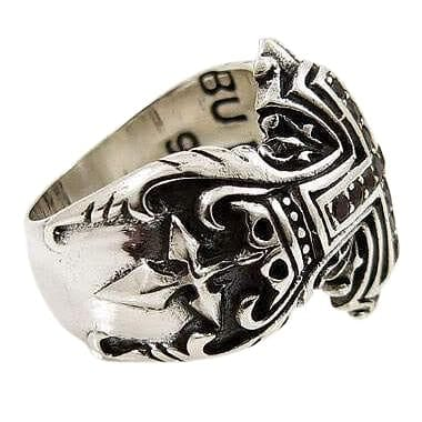 Sterling Silver Cross Medieval Rings