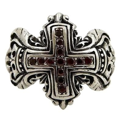 Sterling Silver Medieval Cross Ring