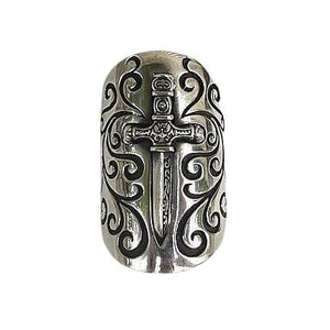 Sterling Silver Medieval Shield Sword Ring