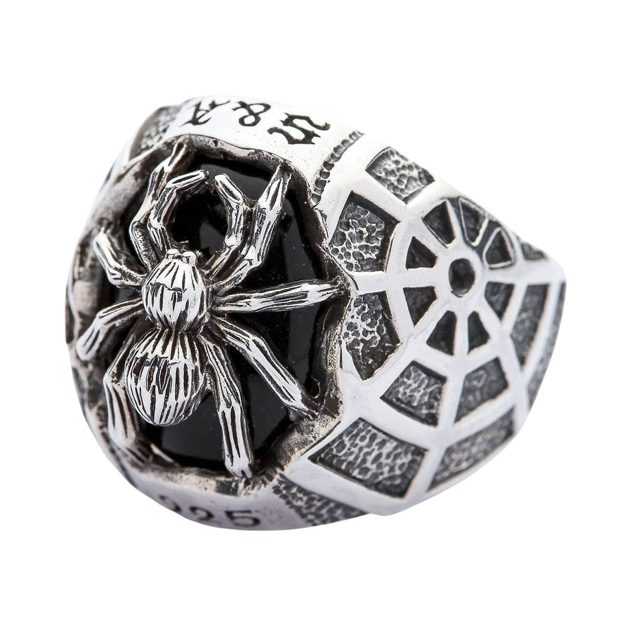 medium size black spider ring