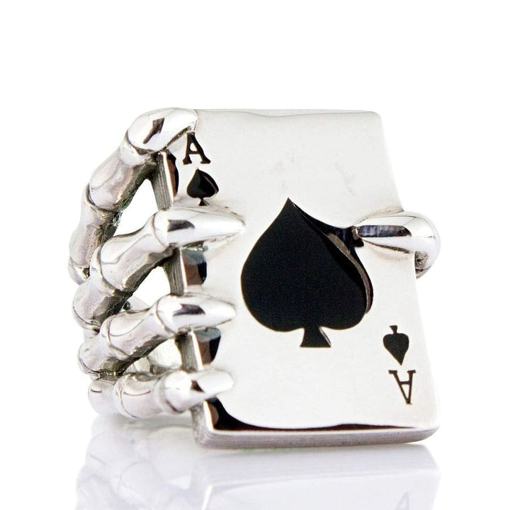 claw spade men's ring