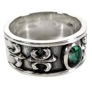 men's emerald ring