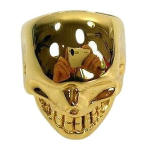 Metalic Gold Skull Ring