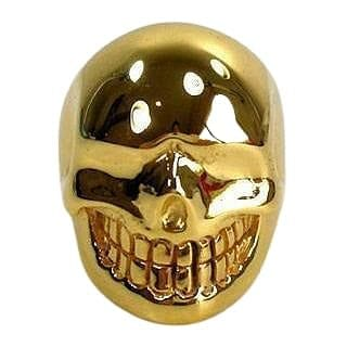 brass skull ring
