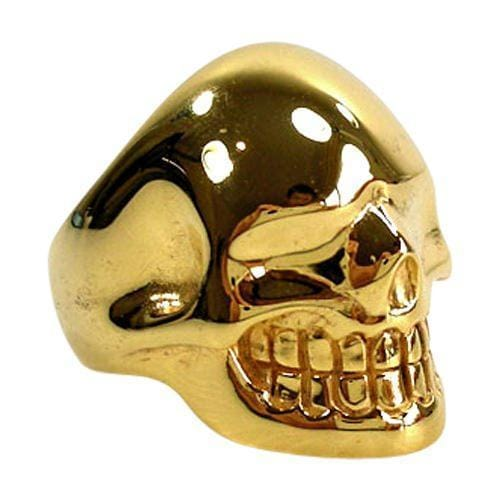 Gold Metalic Skull Ring