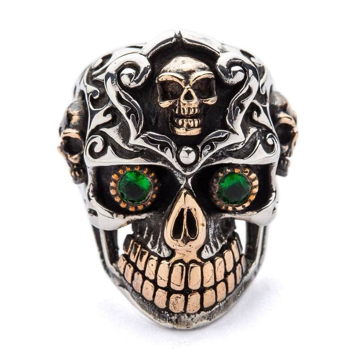sterling silver mexican sugar skull ring