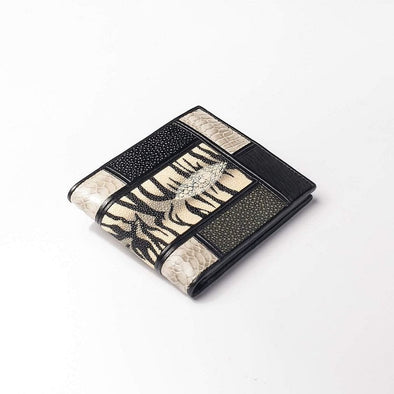Mixed Exotic Stingray Snake Skin Wallet