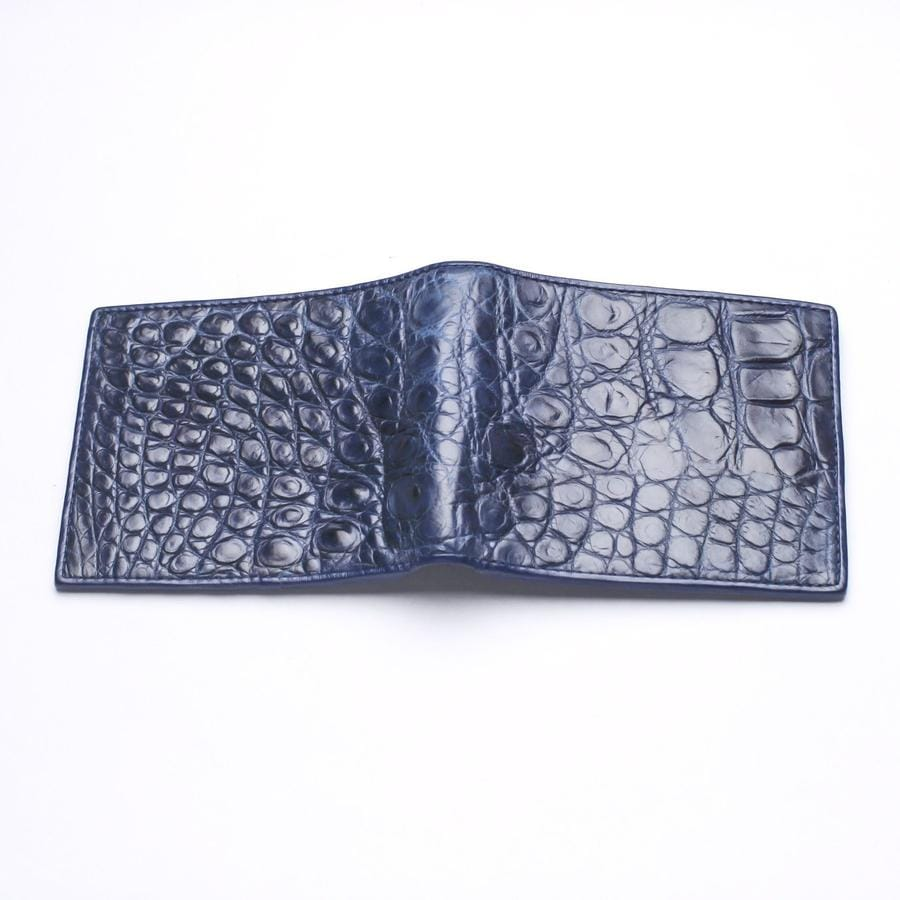 blue crocodile stomach wallet for men