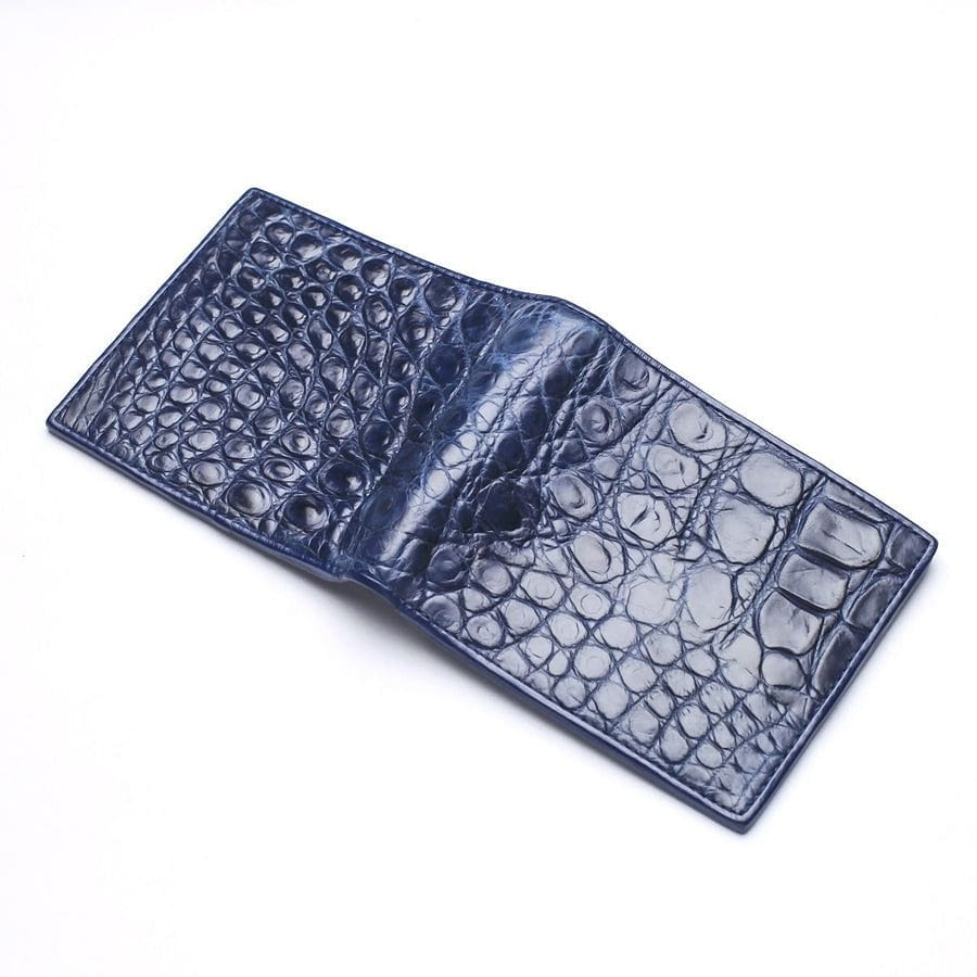 navy blue stomach crocodile wallet