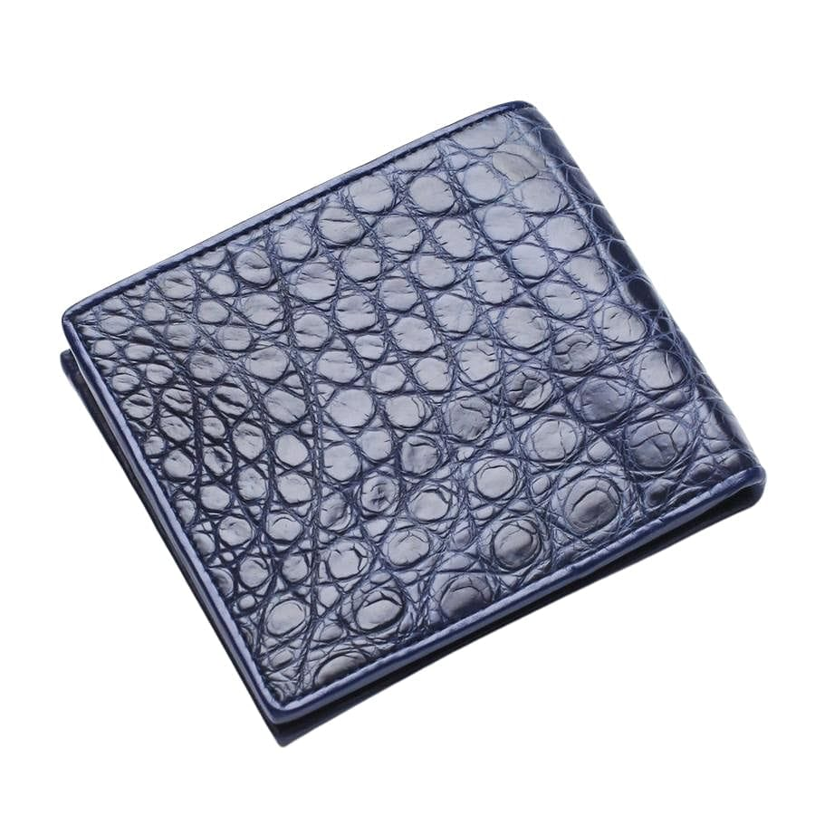 dark blue crocodile leather wallet