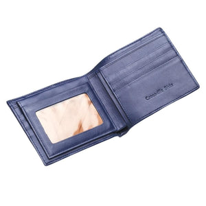 Navy Blue Crocodile Stomach Skin Mens Wallets