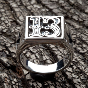 13 lucky number ring