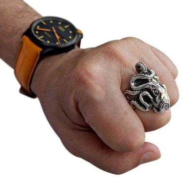 Octopus Ring-Bikerringshop