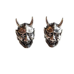 Japanska Oni Mask Devil Earrings