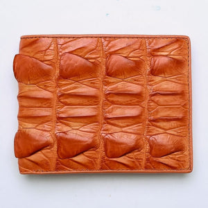 orange crocodile tail wallet