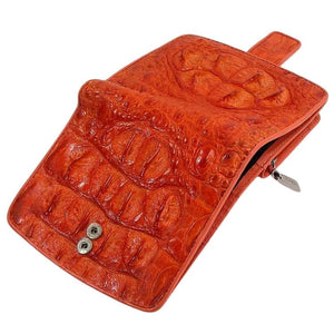 genuine crocodile hornback wallet