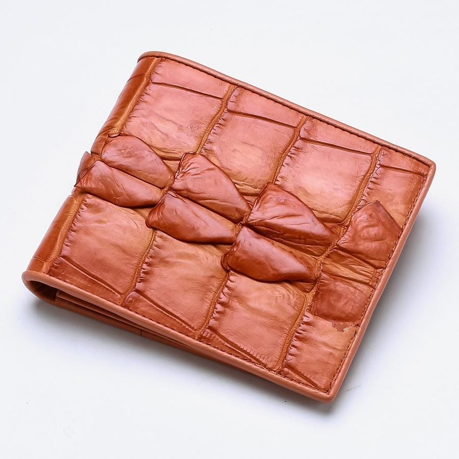 orange wallet for men