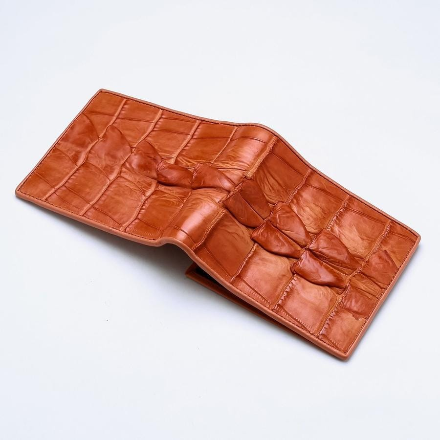 orange leather mens wallet
