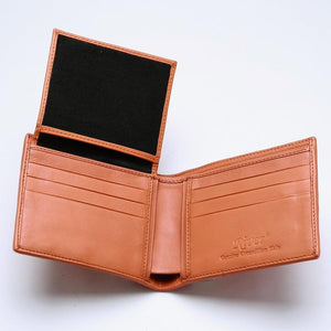 Orange Crocodile Tail Leather Mens Wallet