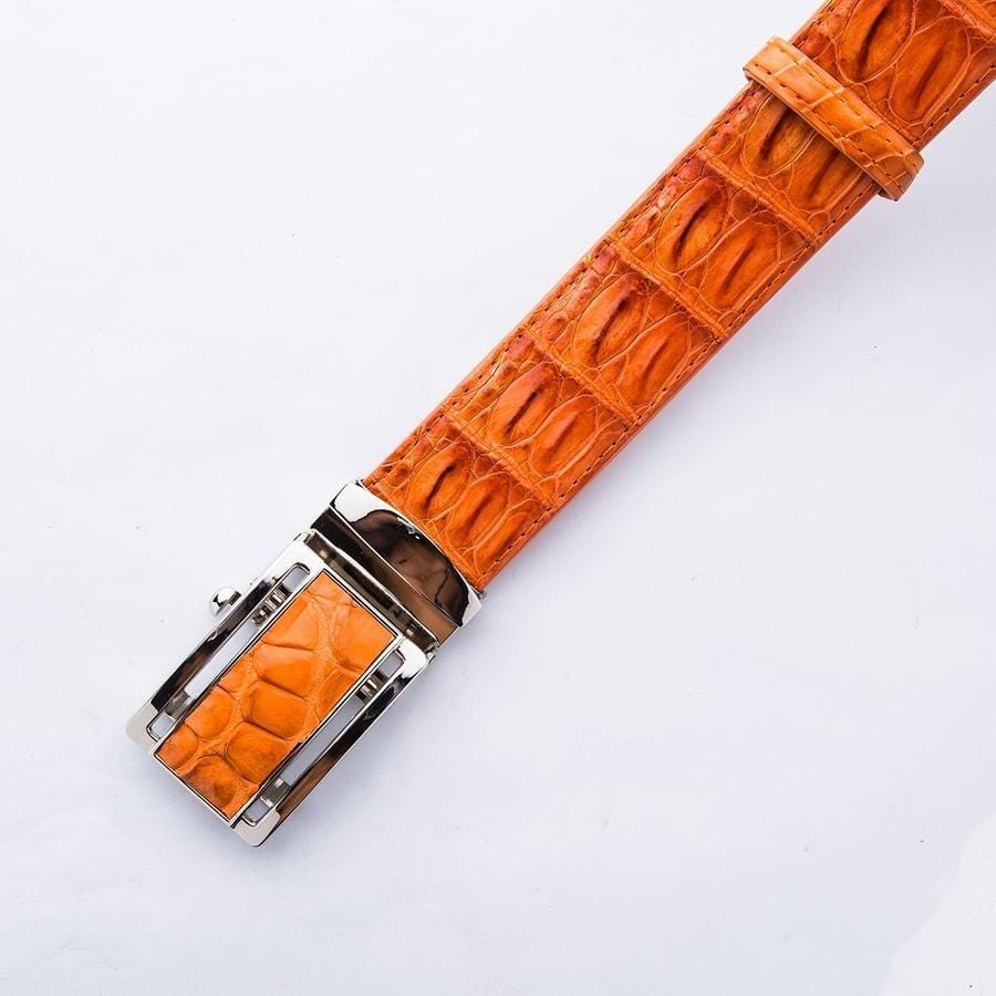 orange men's belt