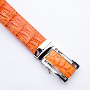 crocodile skin belt