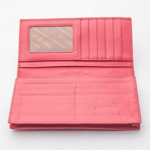 Crocodilus Hornback rosea cutis Long Wallet
